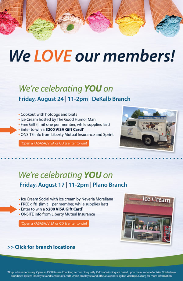 Illinois Community Credit Union Join Us For Member Appreciation Day