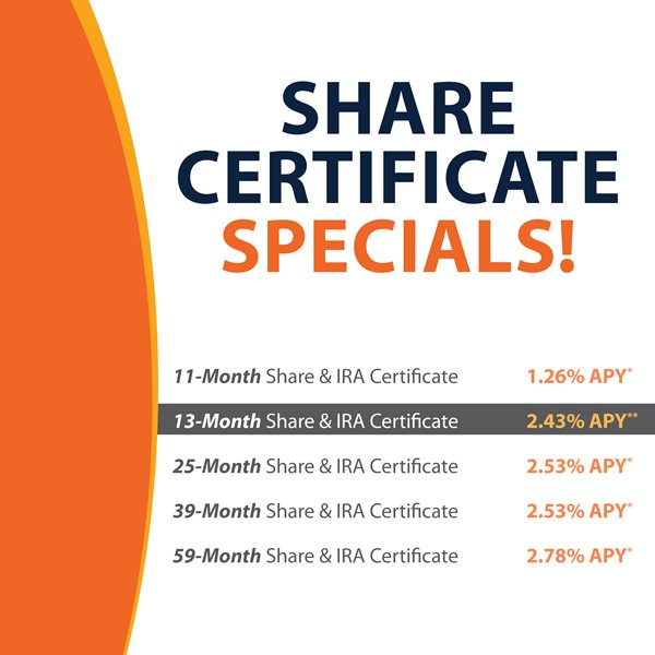 Illinois Community Credit Union 13 Month Share Certificate Special